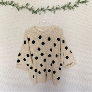Zara Slub Knit Polka Dot Sweater - Size M